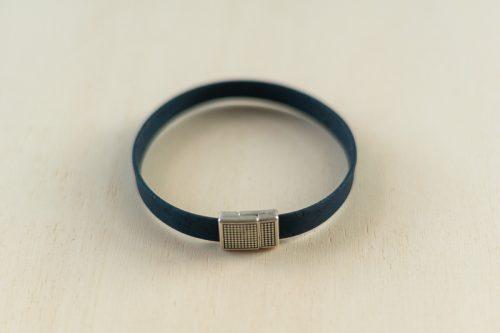 Armband blau eckig einzeln