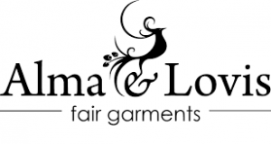 Das Logo von Alma und Lovis fair garments