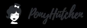 Das Logo von Ponyhütchen mit dem Gesicht einer edlen Frau