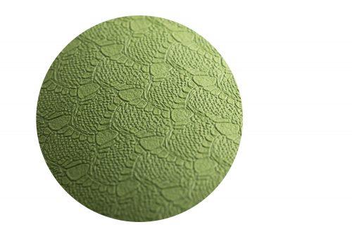Nahansicht der hellgrünen Yogamatt, Struktur der Matte ist zu sehene